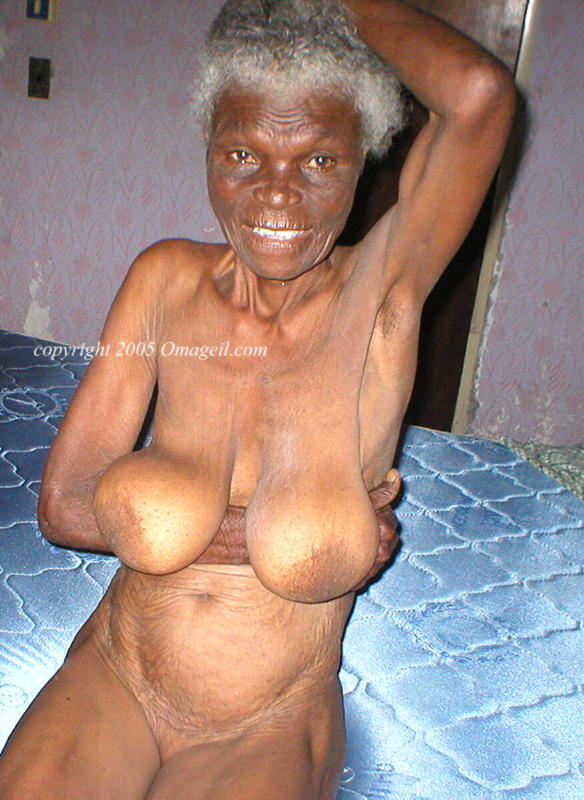 Fat black nude granny Exaggerate