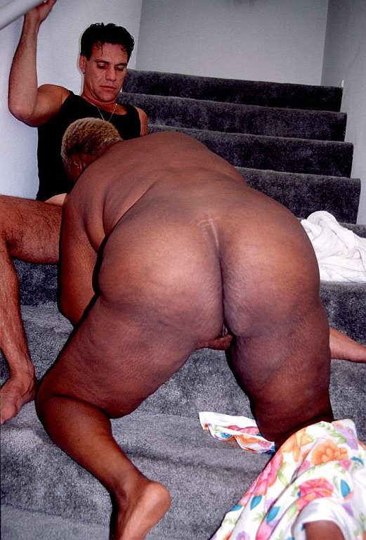 Fat big black ass old women